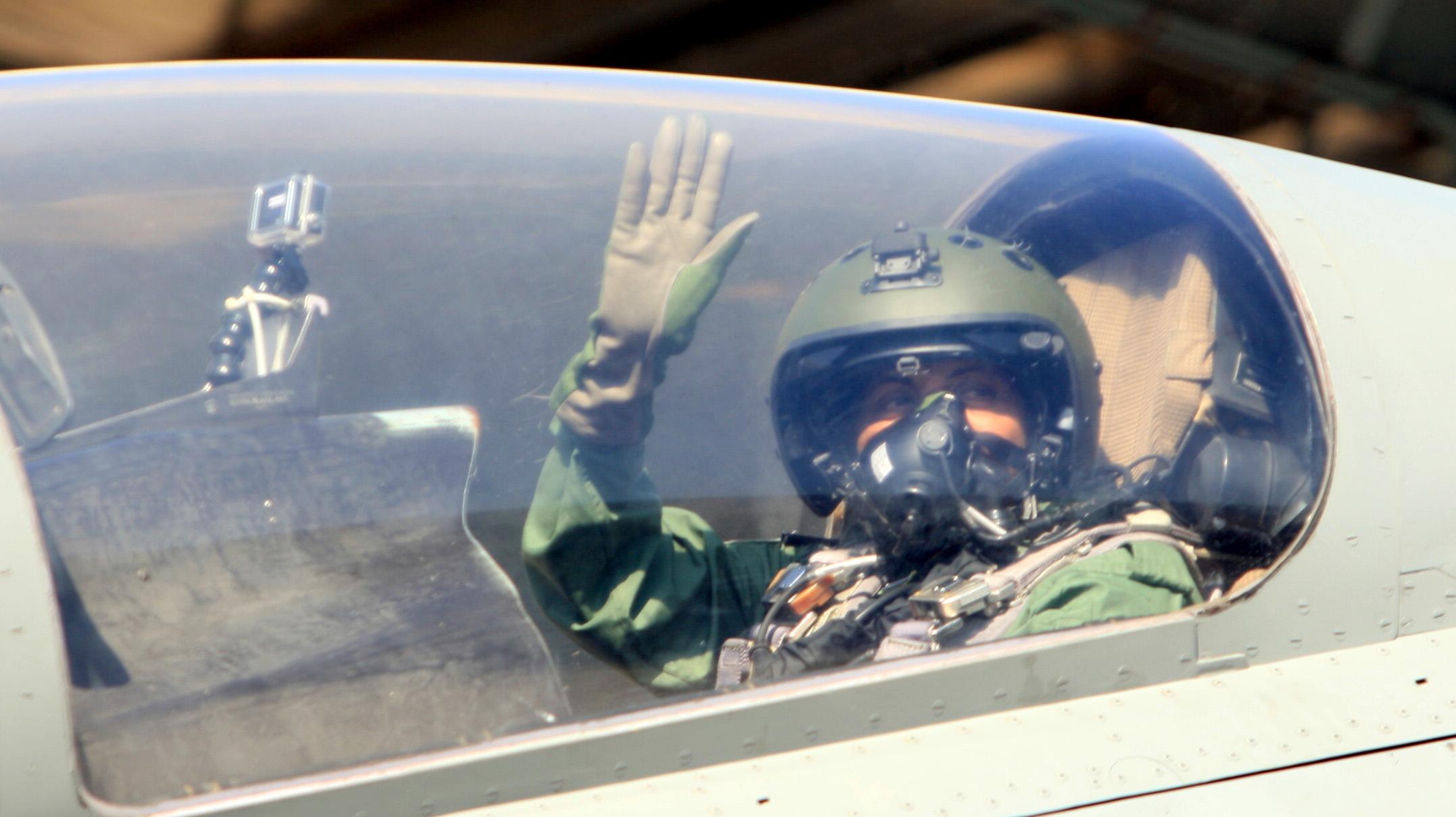 Nirmala Sitharaman inside cockpit of Sukhoi-30 MKI as she undertakes sortie