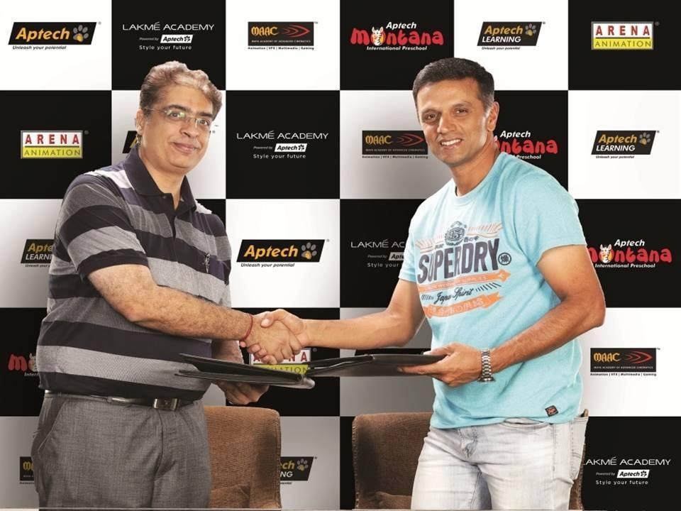 Aptech signs Rahul Dravid as Global Brand Ambassador - India