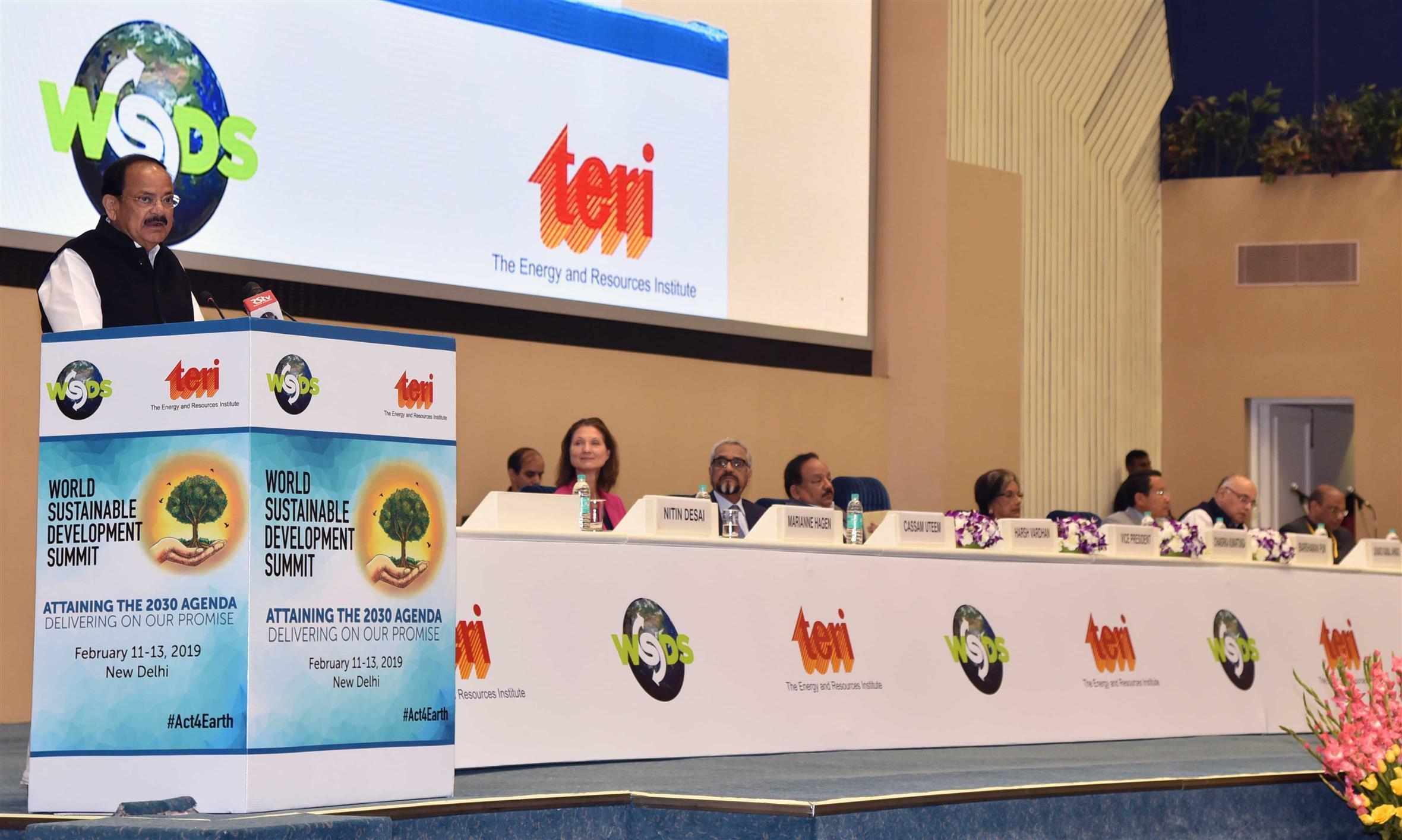 Vice President inaugurates World Sustainable Development Summit 2019
