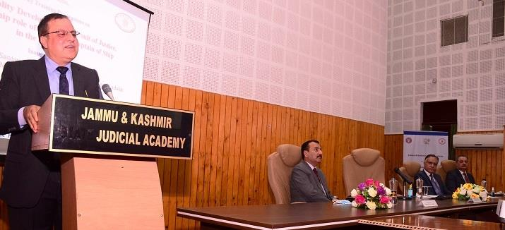 """Jammu & Kashmir Judicial Academy organizes training on """"Personality Development, a Pursuit of Justice, Leadership role of a Judge as captain of ship in Trial Court"""" – India Education"""